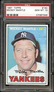 1967 Topps Mickey Mantle PSA 10