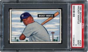 Mickey Mantle 1951 Bowman PSA 9