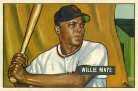 Willie Mays 1951 Bowman rookie card