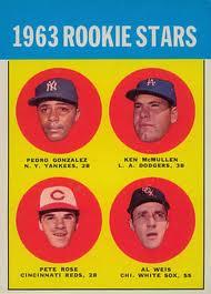 Pete Rose rookie card 1963