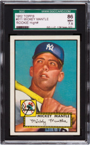 Willie Mays 1952 Topps graded card