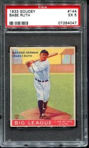 Babe Ruth 1933 Goudey PSA 5